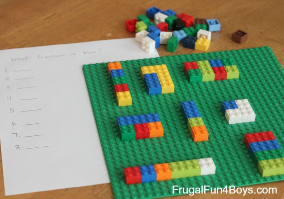 Activities for Teaching Fractions with Legos Frugal Fun For Boys – Lego Maths Worksheets