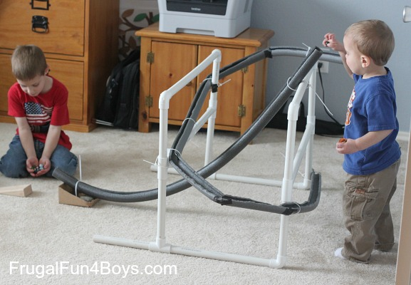 Build A Marble Run With Pipe Insulation