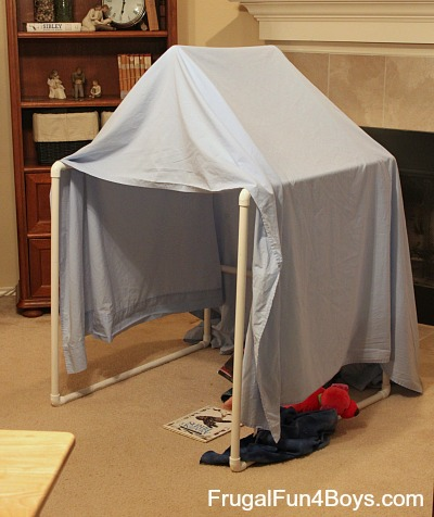 2049340ff3b3 Build a PVC Pipe Play Tent/Fort - Frugal Fun For Boys and Girls