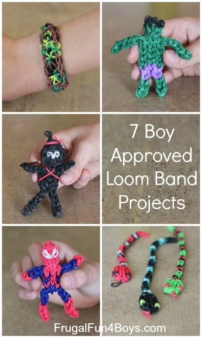 Seven Boy Approved Rainbow Loom Band Projects Frugal Fun For Boys