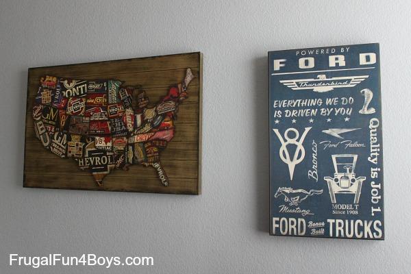 Shared Boys Bedroom Cars Theme