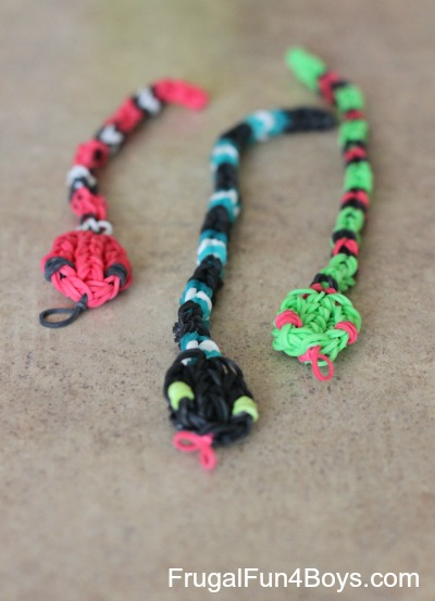 How To Make Loom Band Snakes Frugal Fun For Boys And Girls
