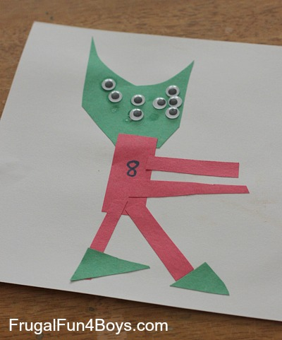 Construction Paper Number Creatures