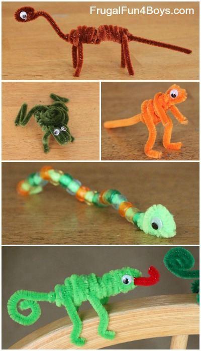 Easy Craft For Kids Pipe Cleaner Animals Frugal Fun For Boys And