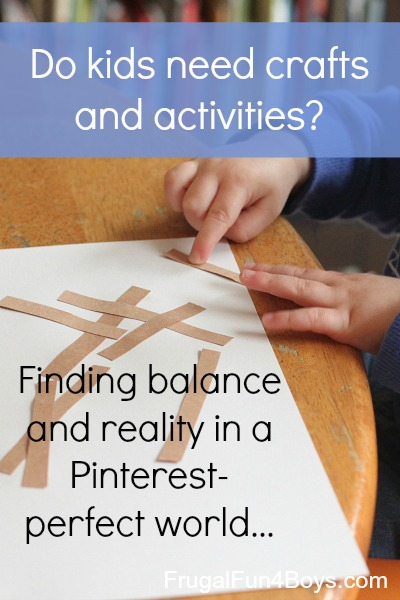 Do Kids Need Crafts and Activities?