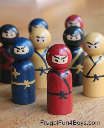 Wooden Peg Ninjas And Play Ideas To Go With Them