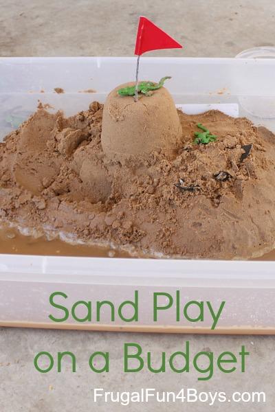Sand Box Play on a Budget
