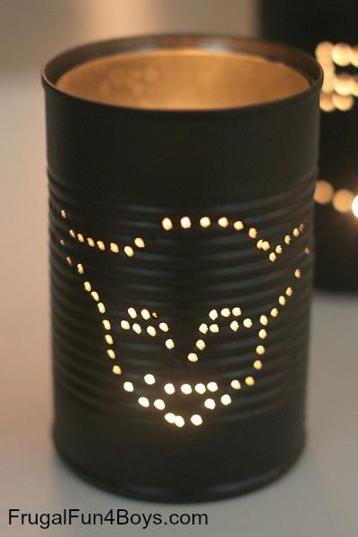 Star Wars Tin Can Lanterns