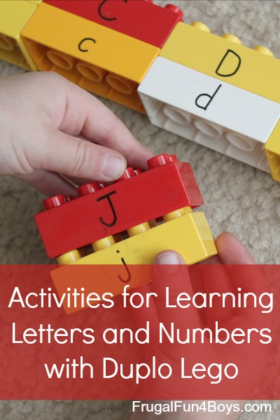 Activities for Learning Letters and Numbers with Duplo Lego