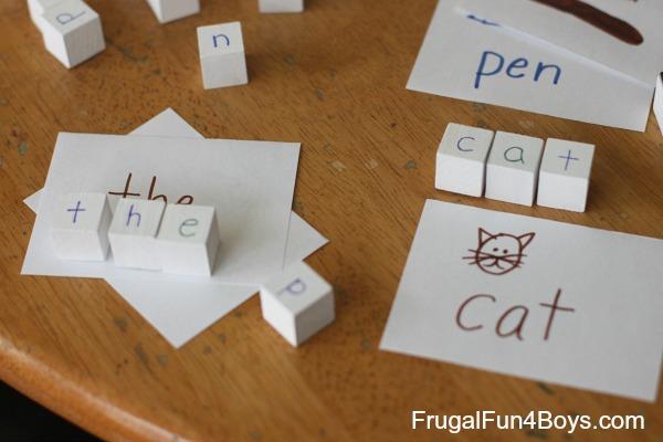 DIY Spelling Blocks Phonics Manipulatives