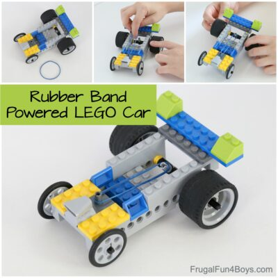 How to Build a Rubber Band Powered LEGO Car
