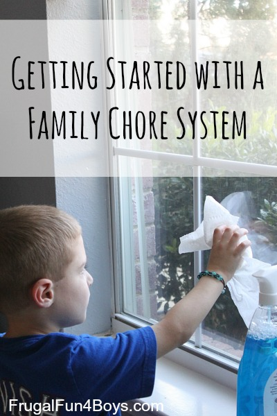 Chores for Kids:  Getting Started with a Family Chore System