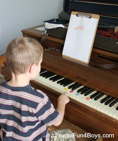 Composing Music with Math Activity for Kids