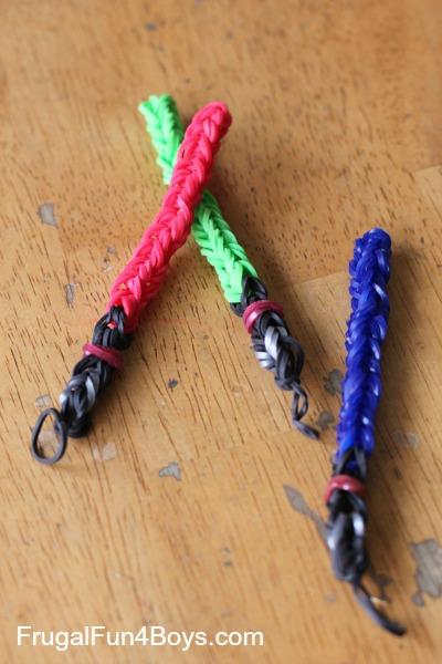 Rainbow Loom Lightsabers