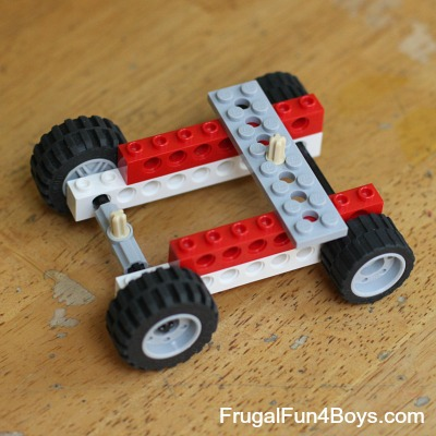 Two ways to build a rubber band powered lego car rubber band powered lego car malvernweather Image collections