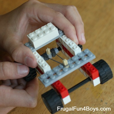 Rubber Band Powered Lego Car