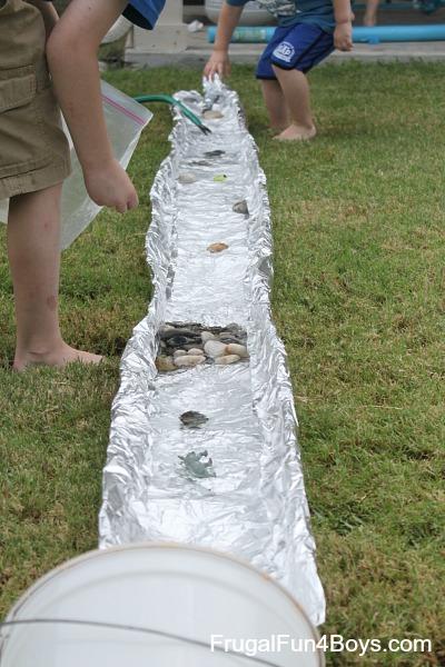 Tin foil river