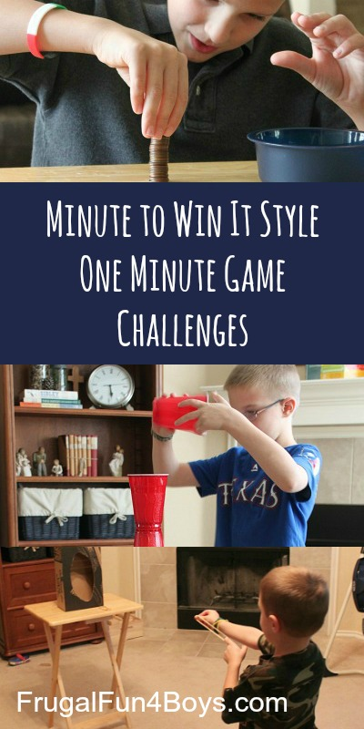 Minute to Win It Style Family Games