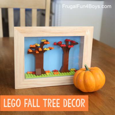 Lego Fall Leaf Shadow Box