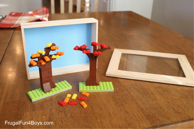 LEGO Fall Tree Shadow Box