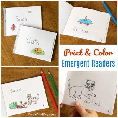 Free Printable Books for Beginning Readers – Level 1 (Easy)