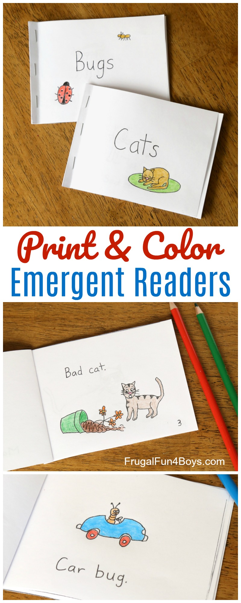 It is an image of Gargantuan Printable Emergent Reader Books