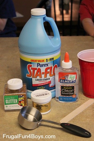 How to make sparkly gold slime frugal fun for boys and girls how to make gold slime liquid starch clear school glue ccuart Gallery
