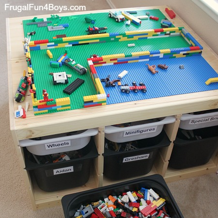 Ikea Hack Lego Table Frugal Fun For Boys And Girls