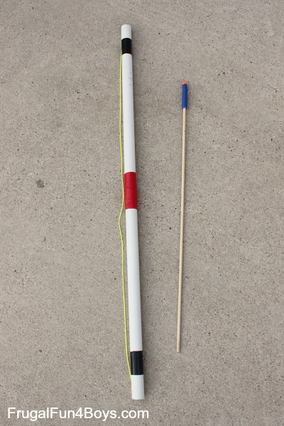 How to make a PVC pipe bow and arrows