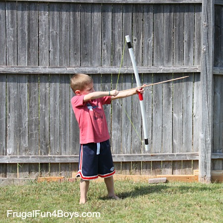 How to Make a PVC Bow and Arrows