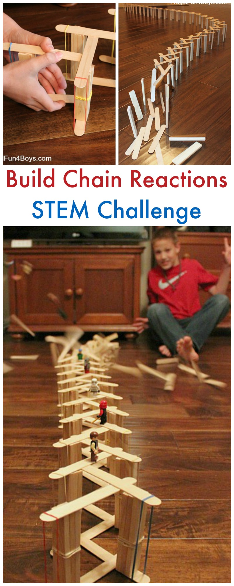 Build Chain Reactions with Craft Sticks
