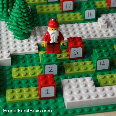 Count down to christmas with a diy lego advent calendar frugal fun diy lego advent calendars solutioingenieria Image collections