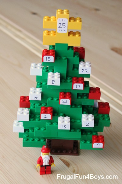 Count down to christmas with a diy lego advent calendar frugal fun diy lego advent calendars solutioingenieria