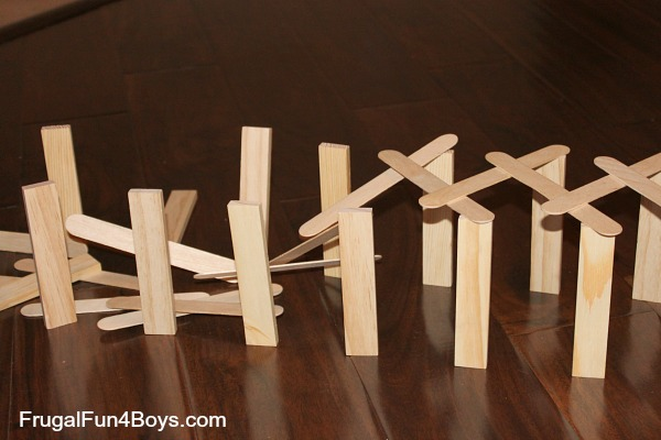 Build a Chain Reaction with Craft/Popsicle Sticks