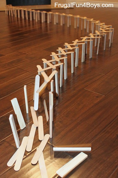 Build A Popsicle Stick Chain Reaction