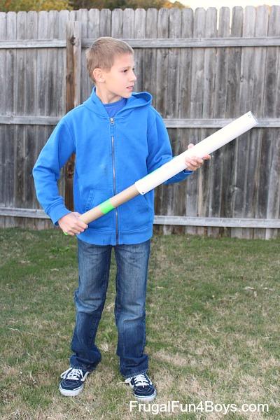 Mailing Tube Ping Pong Shooter