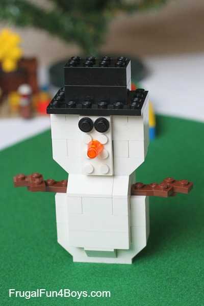 Lego Snowman With Building Instructions Frugal Fun For Boys And
