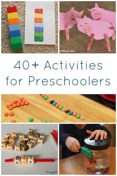 40 Activities For Preschoolers Frugal Fun For Boys And Girls