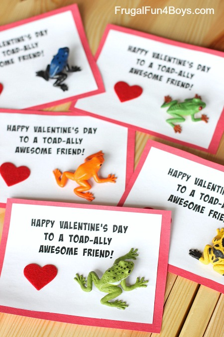 """""""Toad-ally Awesome"""" Boy Approved Valentines - Frugal Fun ..."""