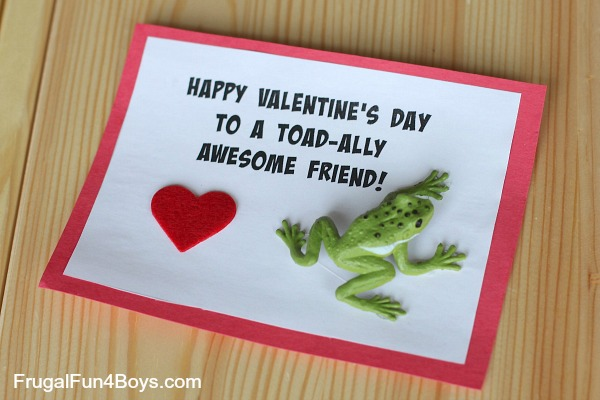 Toad-ally Awesome Frog Valentines - Boy Approved!