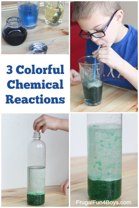 Colorful Chemical Reaction Experiments for Kids