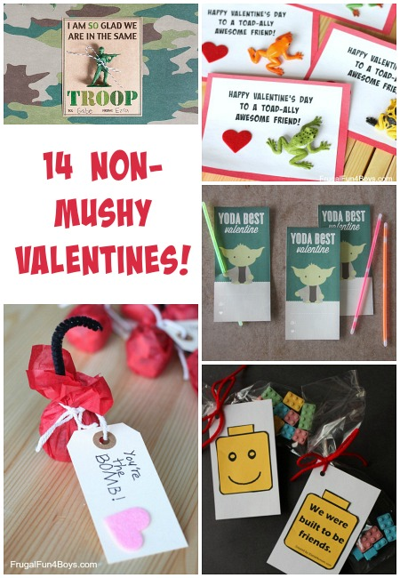Non Mushy Valentine S Day Card Ideas Frugal Fun For Boys And Girls