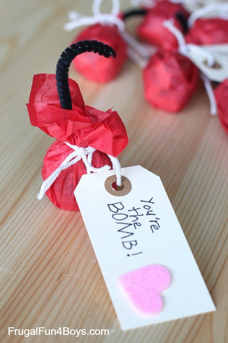 """""""You're the bomb!"""" Handmade Valentines"""