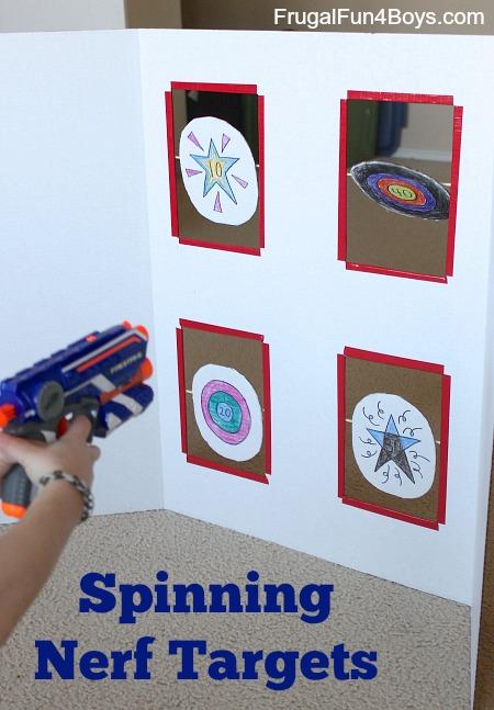 Spinning Nerf Targets – DIY Cardboard Toy