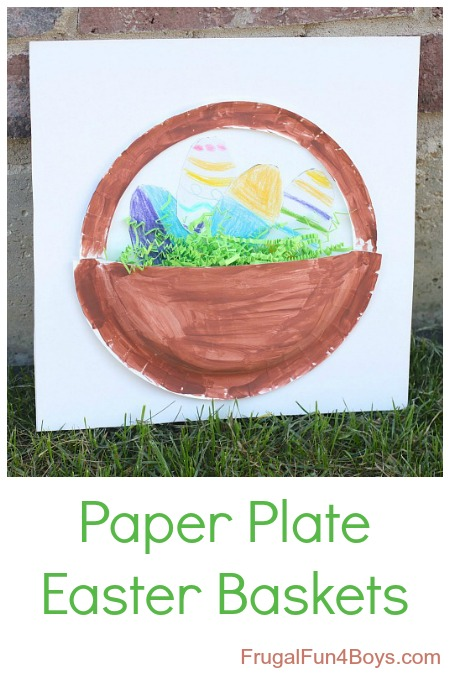 Paper Plate Easter Basket Craft For Kids Frugal Fun For Boys And Girls