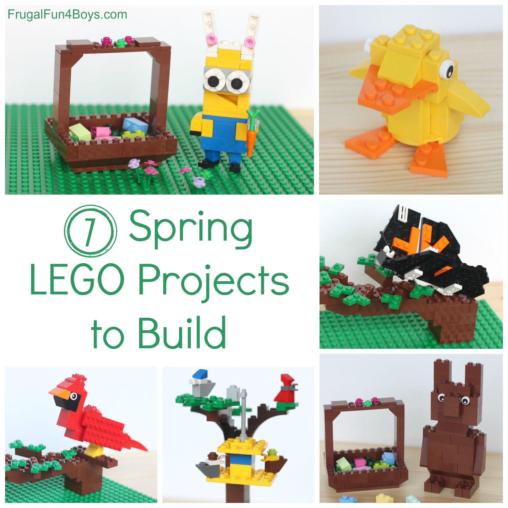 Seven spring lego ideas projects to build with instructions for Lego crafts for kids