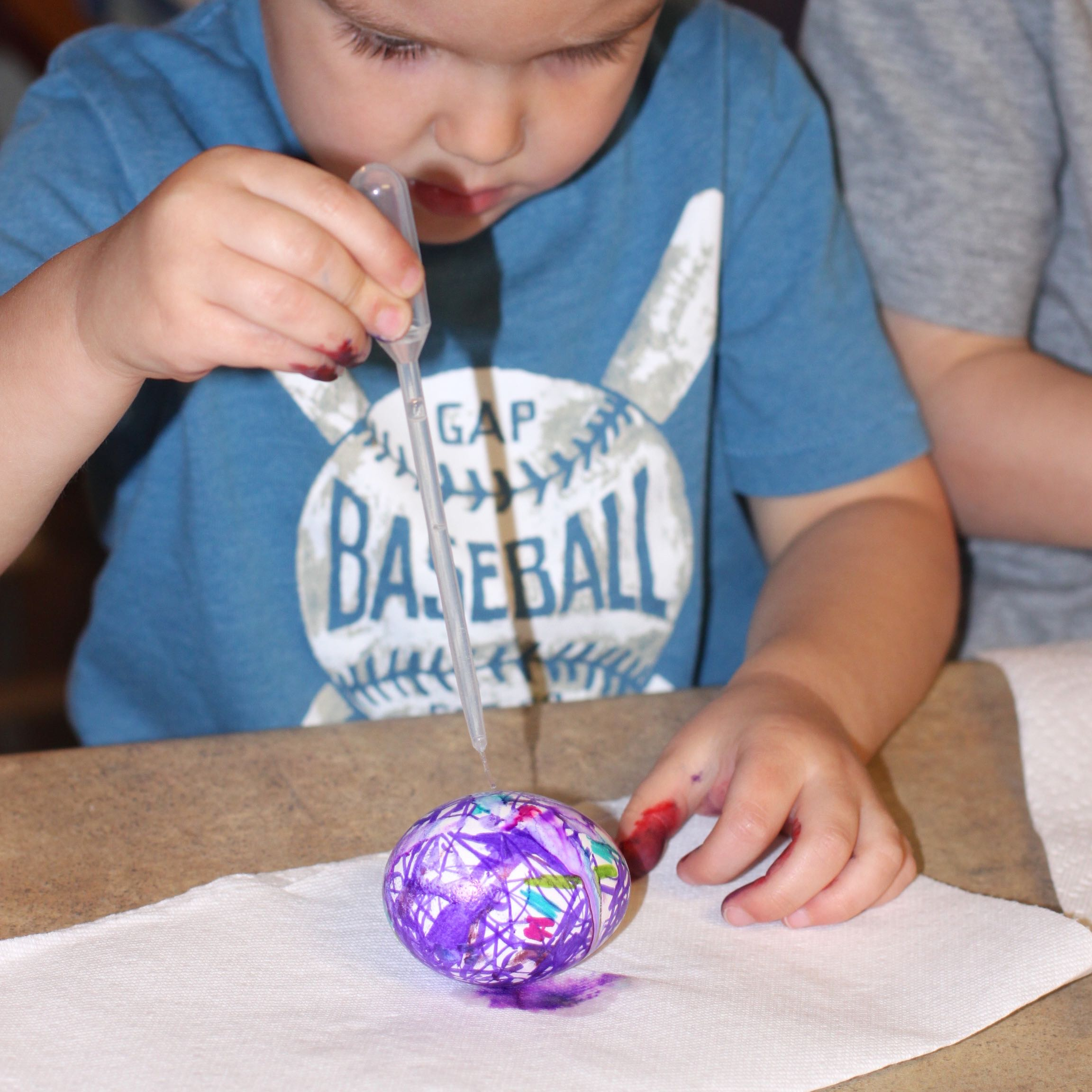 Color Swirl Tie Dye Easter Eggs