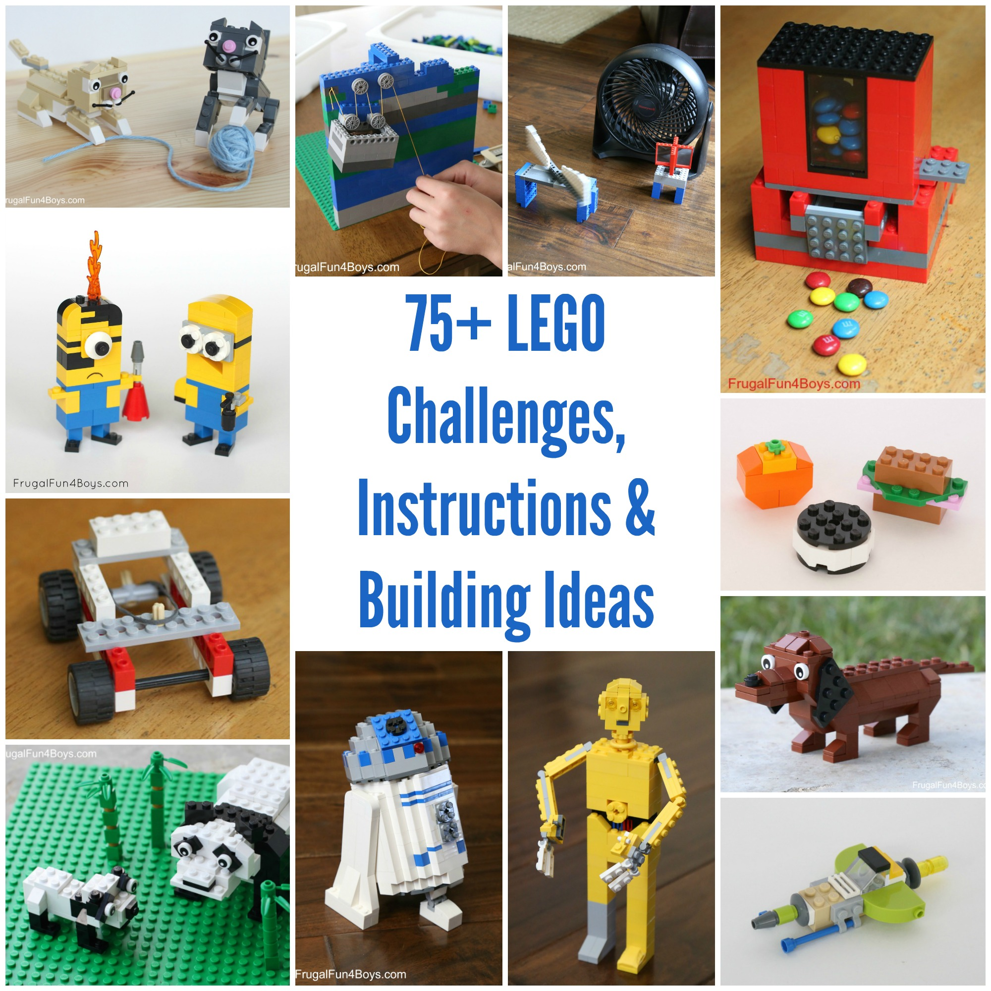 75+ LEGO Challenges, Instructions, Projects, and Ideas!