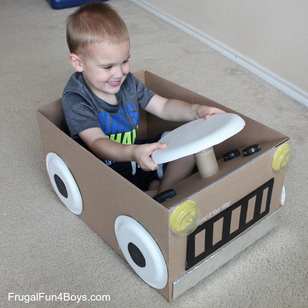 Create a cardboard box car for 1 box auto