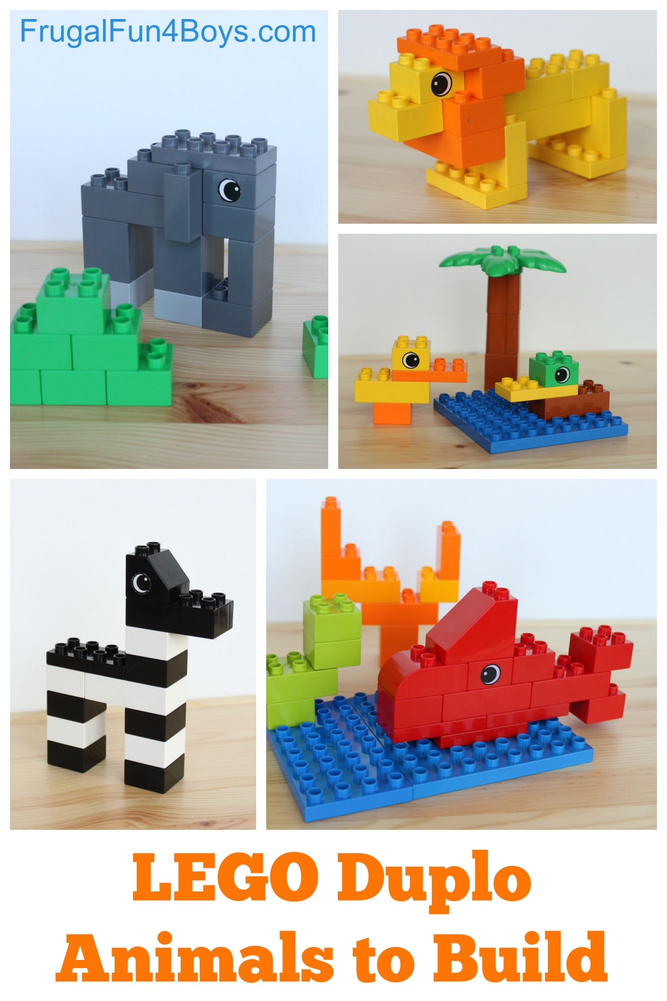 Lego Duplo Animals To Build Frugal Fun For Boys And Girls